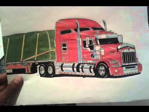 Kenworth T660 Dibujando Youtube