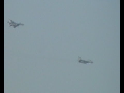 Fighter Jets Flying Low Above Sofia, Bulgaria!