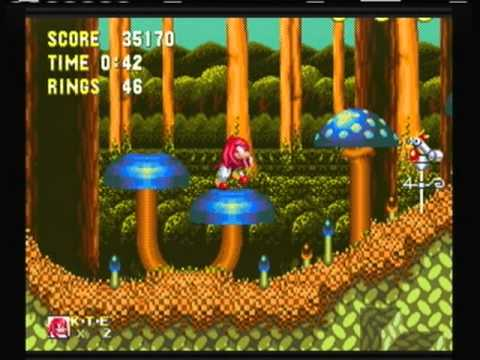 Sonic And Knuckles Mushroom Hill Zone Ring Locations Knuckles