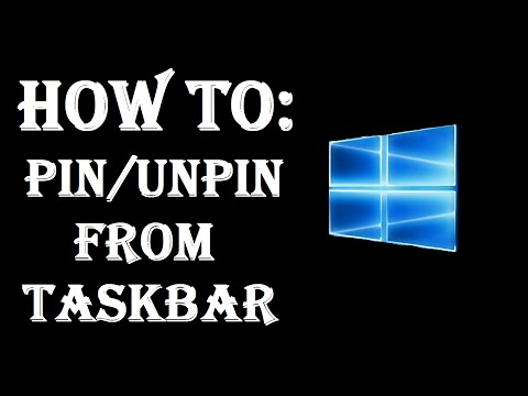 How To Add And Remove Programs Icons From Taskbar - Pin/UnPin - Windows 10