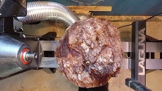 Woodturning Big Cherry Burl / Epoxy