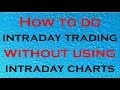 Intraday Trading Strategy | How To Do Intraday Trading Without Using Intraday Charts (In Hindi)