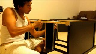 Assembling An Ikea Chest Of Drawers Hemnes 8 Drawers. Pt-1