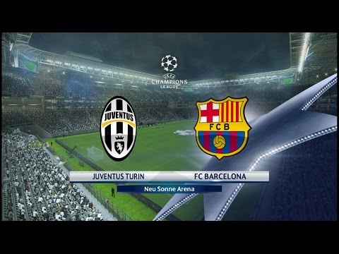 Juventus vs Barcelona - 11/04/2017 UEFA Champions League Star Difficulty Gameplay PES 17