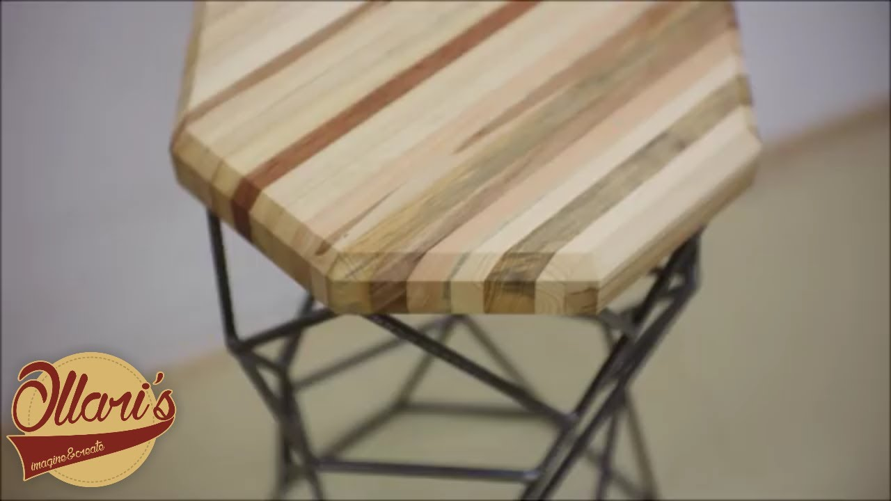 The Re Bar Stool From Pallets And Rebar Youtube