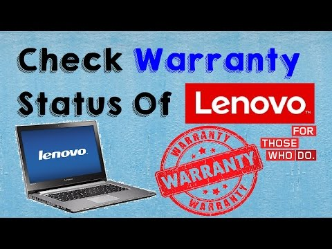 How to Check Warranty of Lenovo Laptop (Check Lenovo Laptop