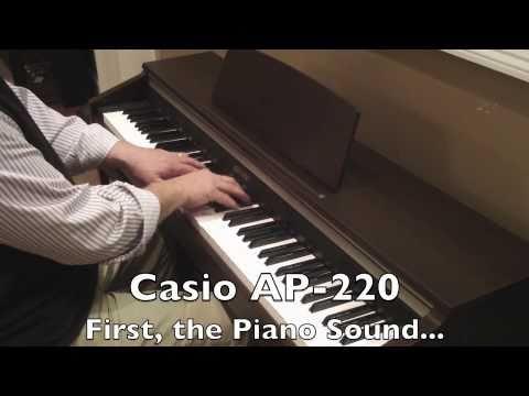 Casio AP-220 Demo Of 3 Tones - Piano, Vibraphone, E-piano
