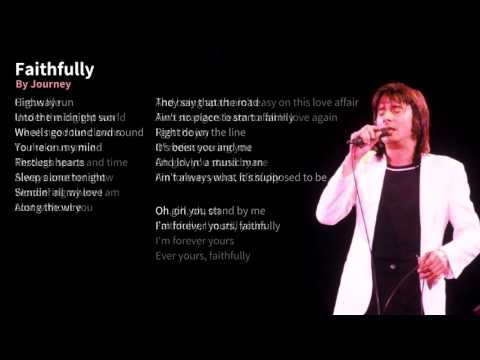 Journey - Faithfully Karaoke (Faster, Lower)
