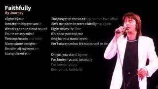 Journey - Faithfully Karaoke (Faster, Lower)