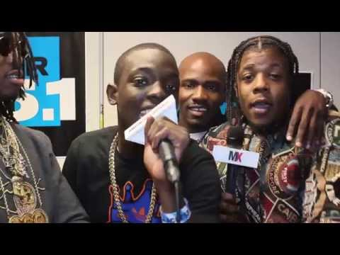 Bobby Shmurda & GS9 at Powerhouse, talks Beyonce & Rihanna. French Montana interrupts interview