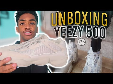 f4a2e9351 YEEZY 500 BLUSH HOW TO STYLE - On Foot Review (GOAT APP LEGIT ...