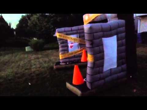 Gemmy Airblown Inflatable Crime Scene Halloween Yard