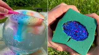 So Satisfying ASMR video compilation (No Music) CALMING Floral Foam