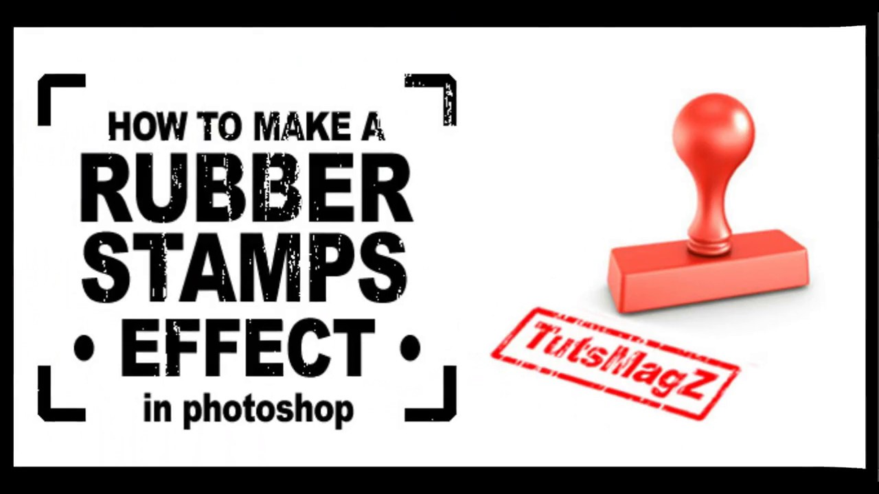 How To Make A Rubber Stamp Effect In Photoshop