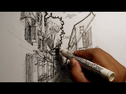 Gambar Perspektif 1 Titik Hilang I How To Draw Using 1 Point Perspective Youtube
