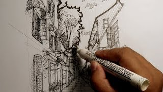 Download Video gambar perspektif 1 titik hilang I How To Draw Using 1-Point Perspective MP3 3GP MP4