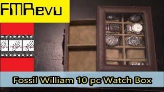 Fossil William 10 Pc Watch Box | Men's Fashion Watch Accessory