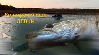 Водохранилище Левки Осенняя рыбалка на спиннинг в Беларуси Отличился Orbit 80 от Bear King