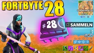 Fortnite Fortbyte 28 🗑️ Shape Puzzle | All Fortbyte Places Season 9 Utopia Skin English