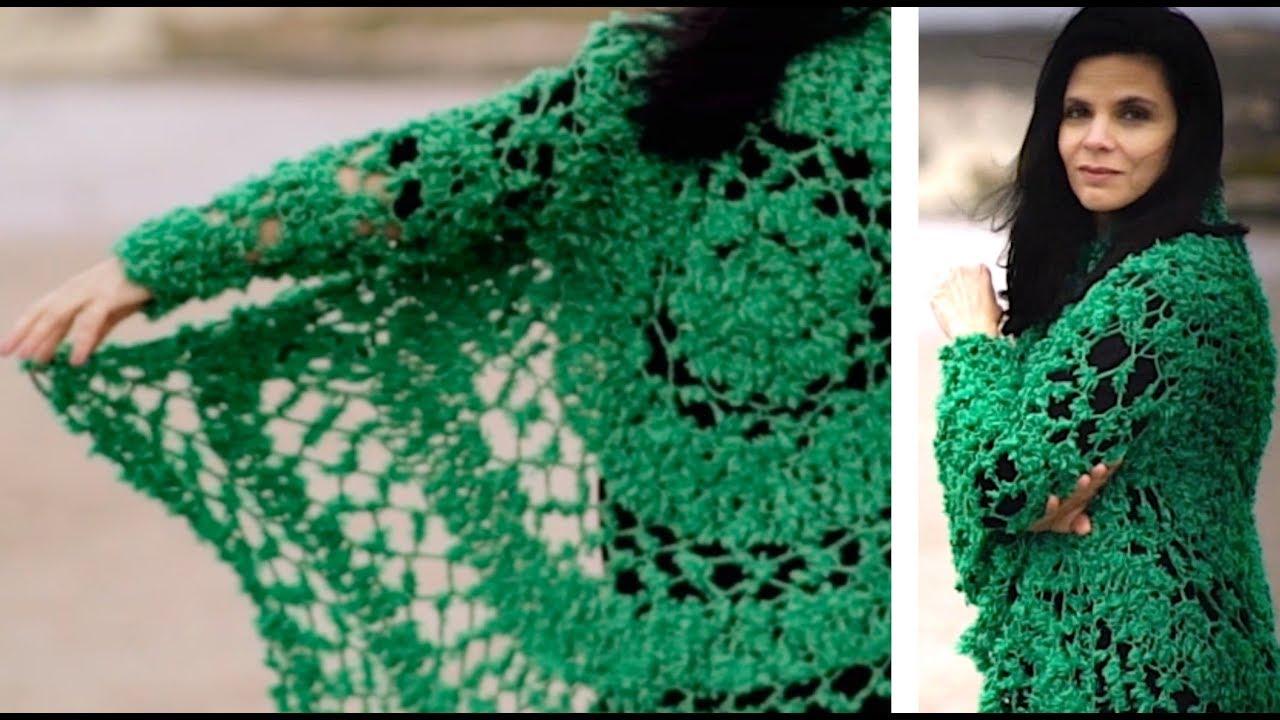 Abrigo circular crochet tutorial