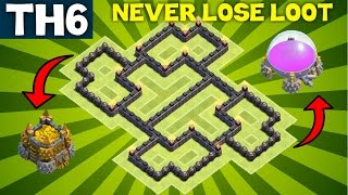 BEST TH6 FARMING BASE Town Hall 6 - Clash of Clans | Air Sweeper