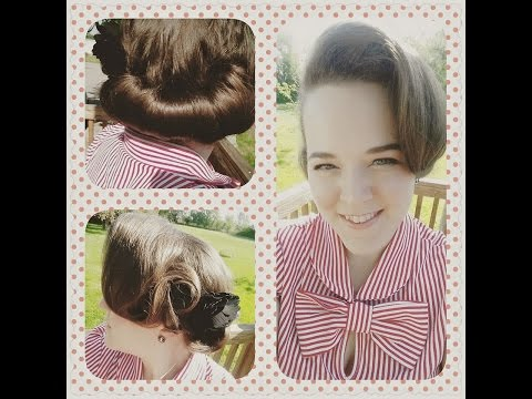 Gibson Roll/Notebook Inspired Hairstyle - Vintage Hair Tutorial thumbnail