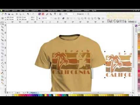 Como Hacer una Camiseta de Playa en Corel Draw