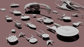 Star Trek STARSHIPS dimensions - 3D