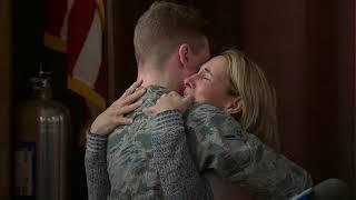 Airman surprises teacher mom during Long Island school assembly