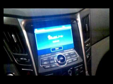 Isuppli Auto Reviews Hyundai Blue Link Demo At Ces 2011 Youtube