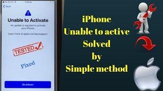 Fix iPhone 7 & 7 plus unable to active Shut down Solution.