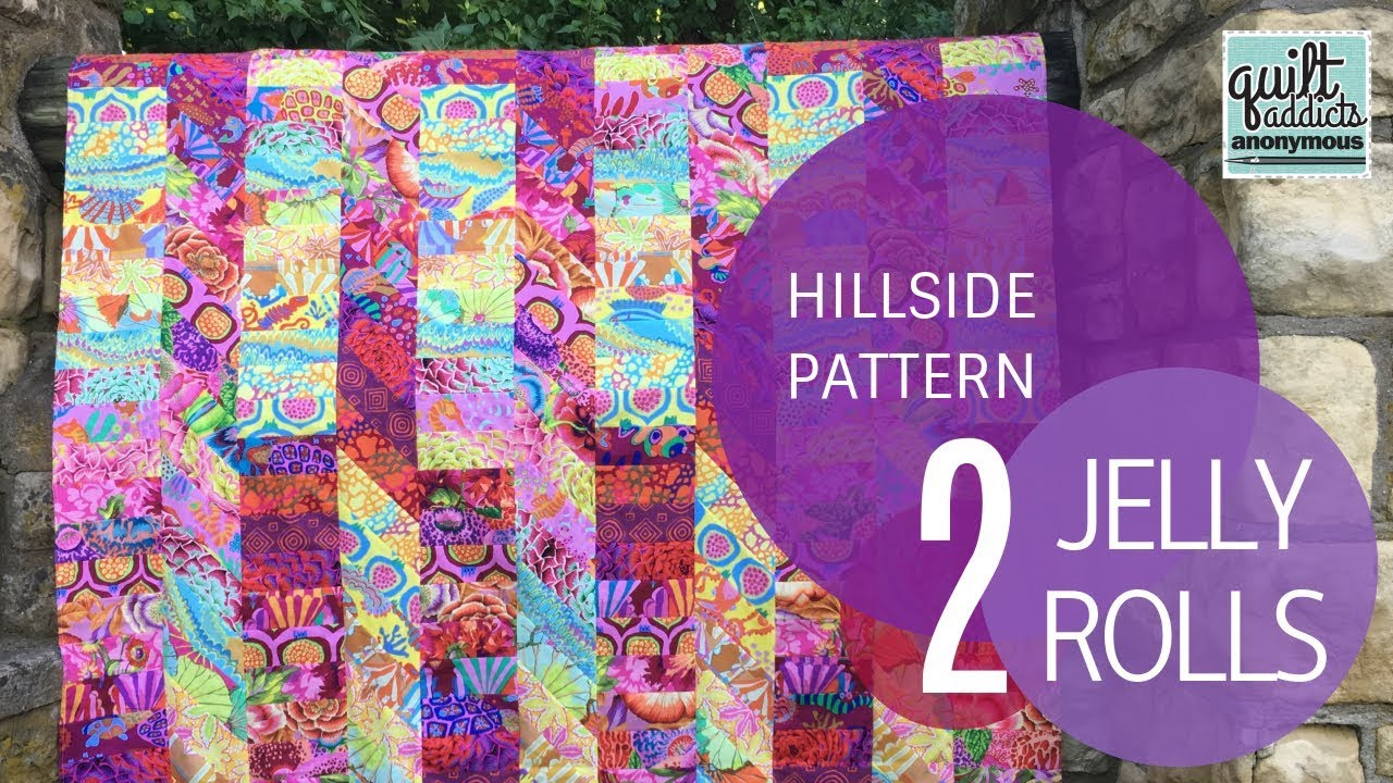 Hillside Quilt Pattern Video Tutorial Uses 2 Jelly Rolls Youtube