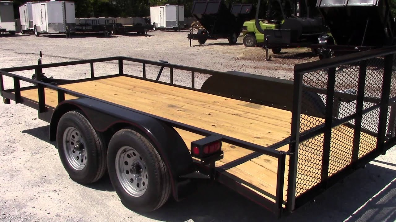 6 4 x 14 double axle dovetail utility trailer youtube for 4 box auto in tandem