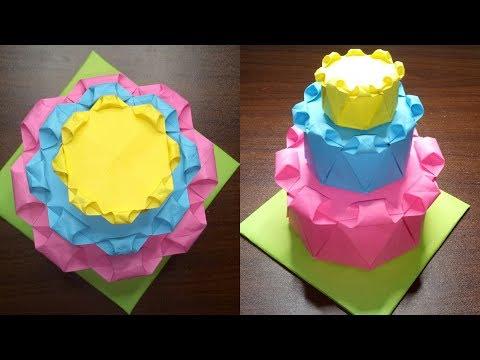 EASY 3-LAYER HANDMADE BIRTHDAY CAKE   DIY PARTY DECORATION