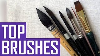 My Best Watercolor Brushes | A Year Into Watercolor