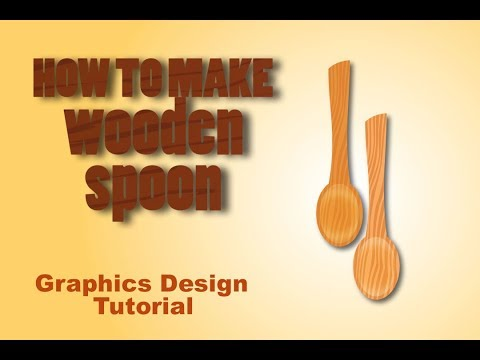 How to make vector wooden spoon (design & illustration)