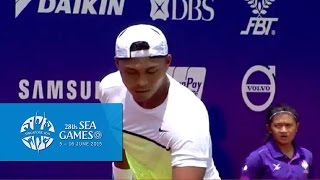 Tennis Team Men's Semi-Finals (Day 3) - PHI vs INDO Match 1   28th SEA Games Singapore 2015
