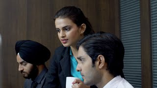 Attractive business lady discussing work with office employee - Tough female boss at task