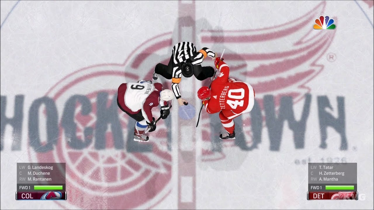 NHL 18 - Detroit Red Wings vs Colorado Avalanche - Gameplay (HD)   1080p60FPS  d906c7531f04