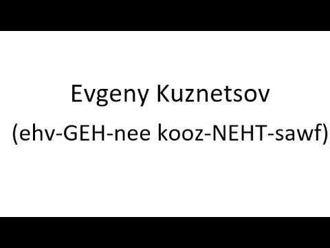 How to Pronounce Evgeny Kuznetsov - Washington Capitals NHL Hockey Player
