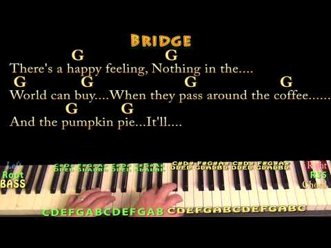 Sleigh Ride (Christmas) Piano Cover Lesson in G with Chords/Lyrics - Country