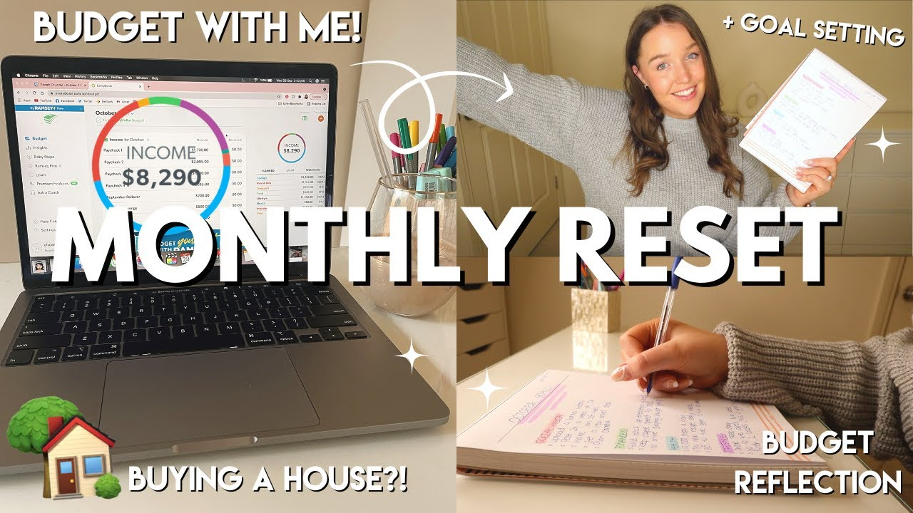 Download OCTOBER MONTHLY RESET | budget with me + goal setting 💰🏠