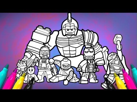 Avengers infinitywar Coloring Page | LEGO Superheroes 2 Coloring