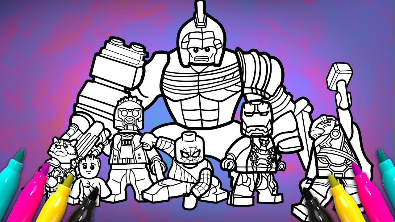 Avengers Infinitywar Coloring Page Lego Superheroes 2 Coloring Youtube
