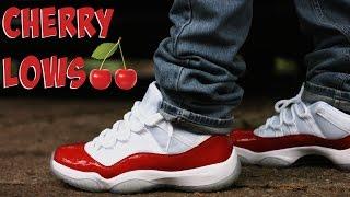 """Air Jordan 11 Low """"Cherry"""" w/ On Foot Review"""