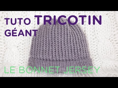 tuto tricotin le bonnet au point jersey loom knit a beanie youtube. Black Bedroom Furniture Sets. Home Design Ideas