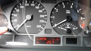 98-2005 BMW E46 3-Series - How to reset oil inspection indicator. Reset service light