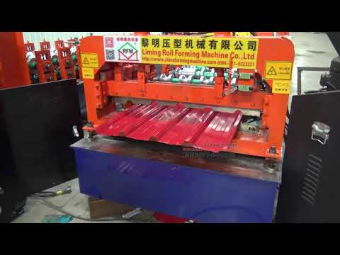 Powerful bull style single panel color steel roll forming machine