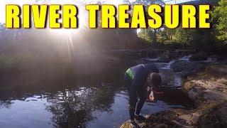 DIVING FOR RIVER TREASURE