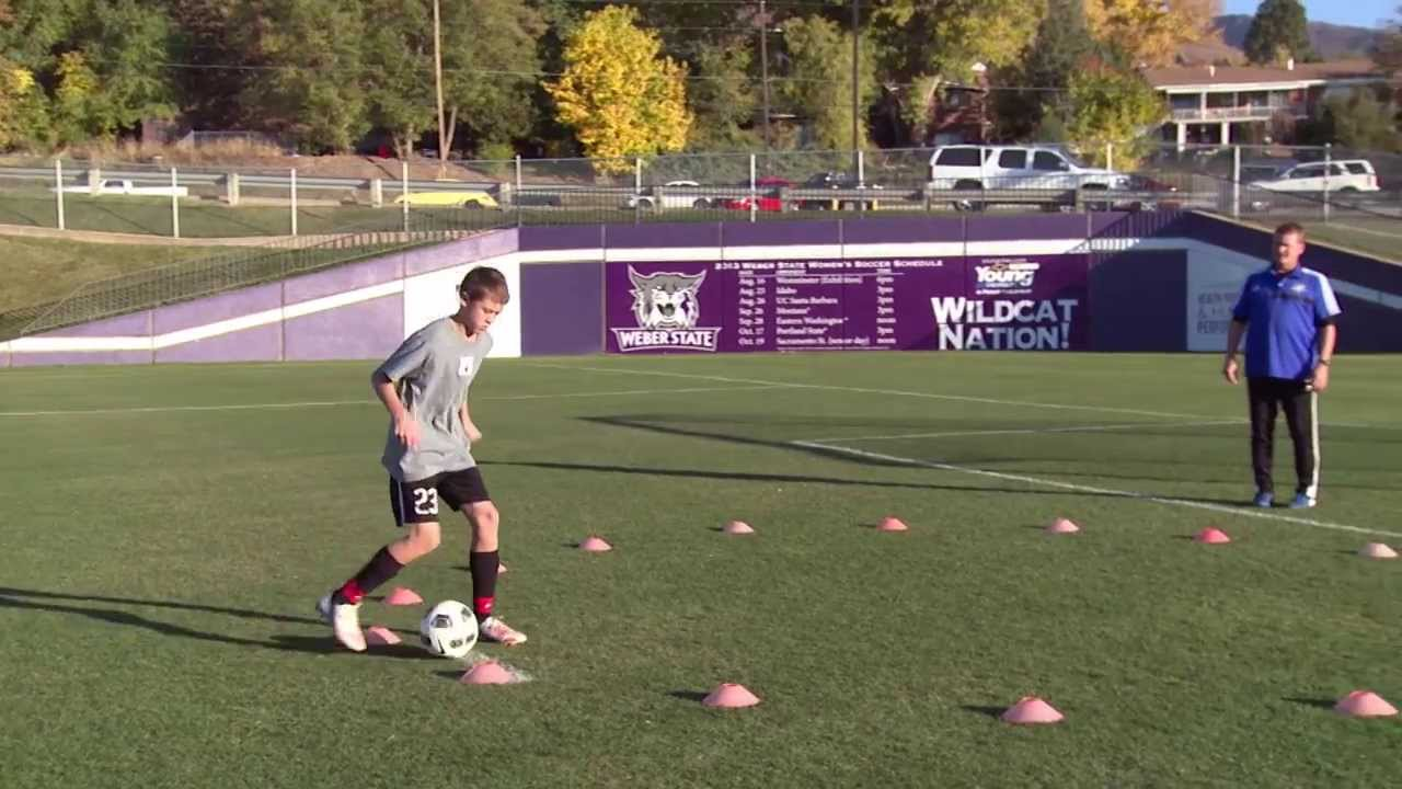 Basic Youth Soccer Drills - Dribbling (5) - YouTube